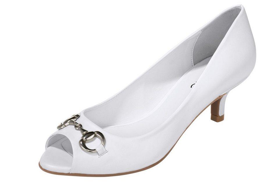 Peeptoe in weiß