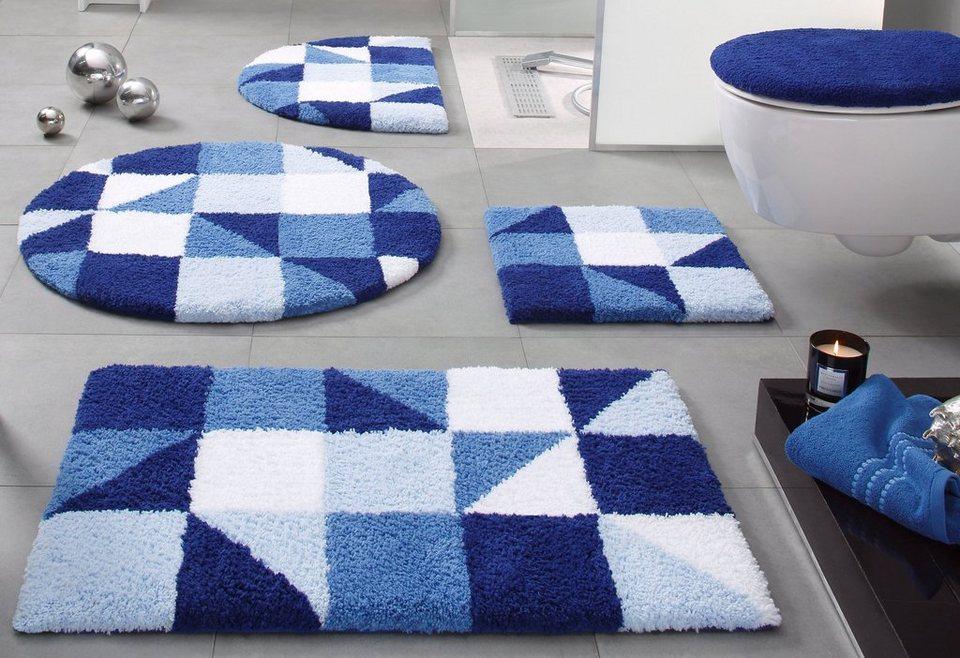 Badematte, my home Selection, »Denise«, Höhe 20 mm, Microfaser, rutschhemmender Rücken in blau