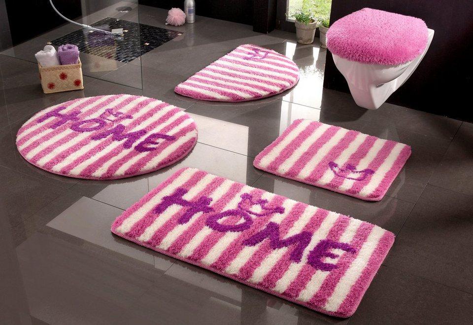 Badematte, my home, »Kingshome«, Höhe 20 mm, rutschhemmender Rücken in pink