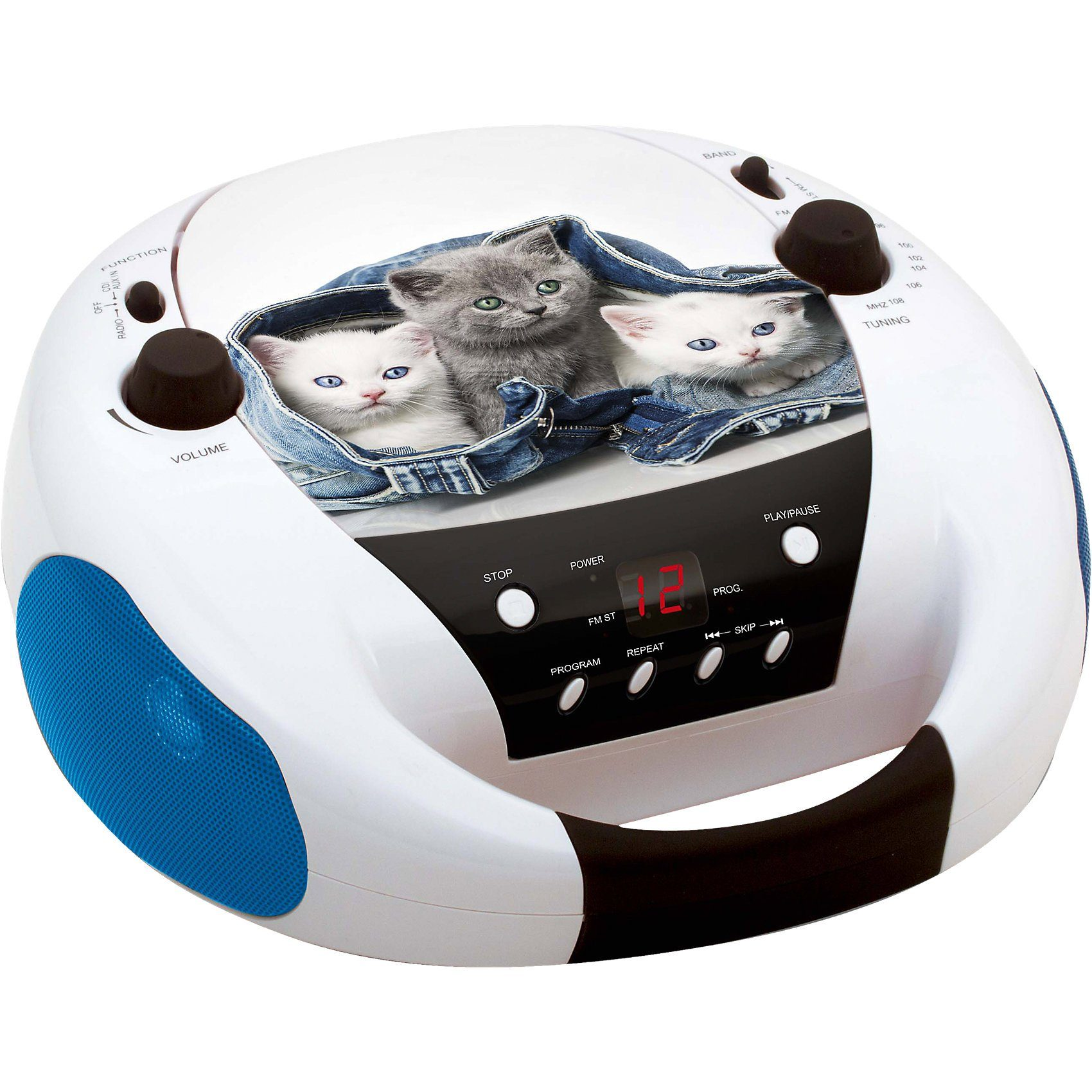 BigBen CD-Player mit Radio CD52 Cats 2