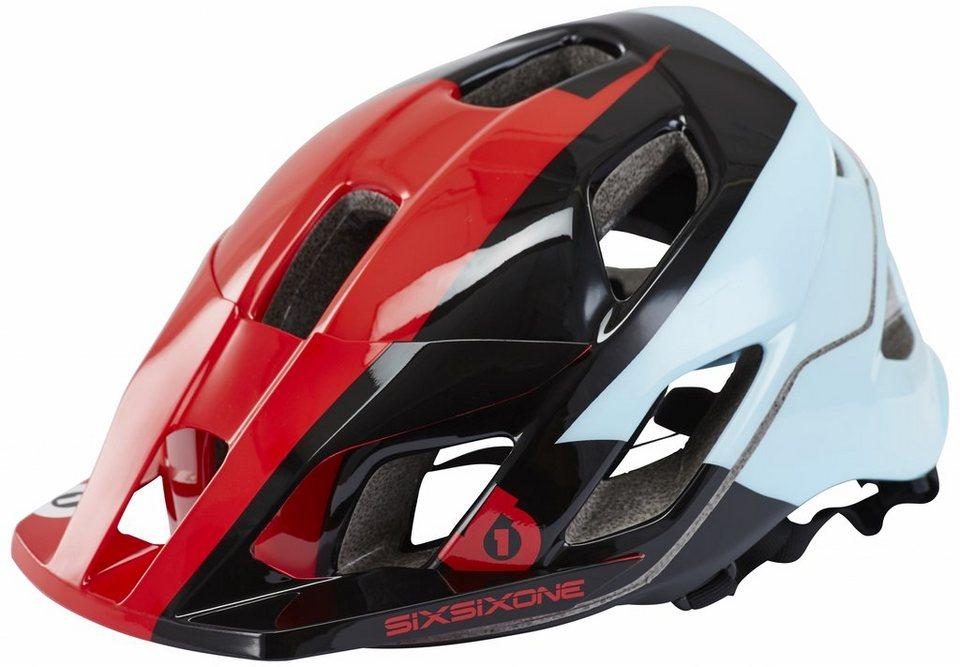 SixSixOne Fahrradhelm »Evo AM Helmet« in rot