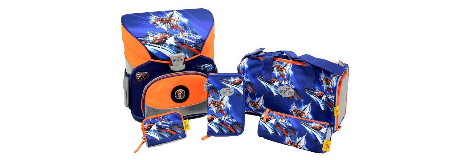 DerDieDas Schulranzen Set (5tlg.), »Fliegengewicht XS - Superheld«