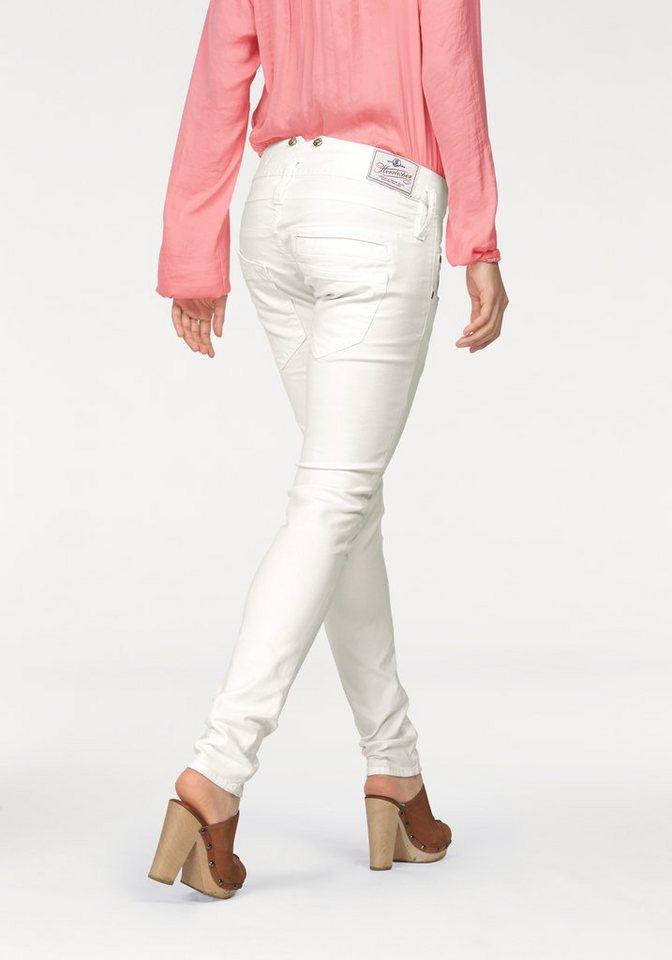 Herrlicher Slim-fit-Jeans »Pitch Slim« mit Stretch-Anteil in white