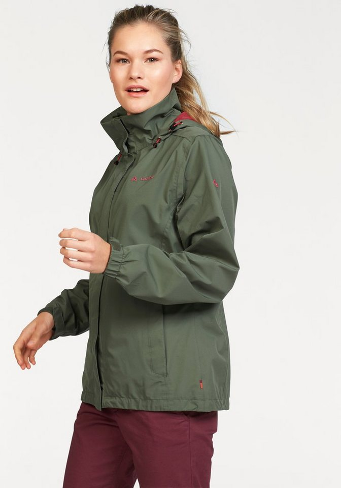 Vaude Funktionsjacke »ESCAPE LIGHT« aus wasserdichtem Material in khaki