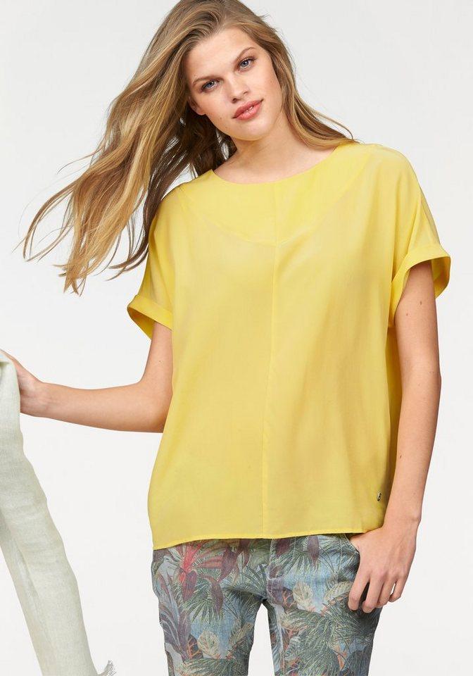 Bogner Jeans Blusentop aus feiner Seide in gelb