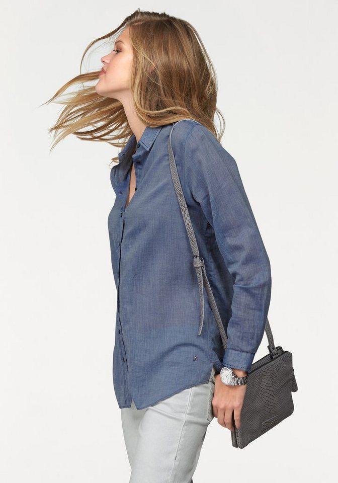 Bogner Jeans Jeansbluse mit modischen Ziernähten in blau