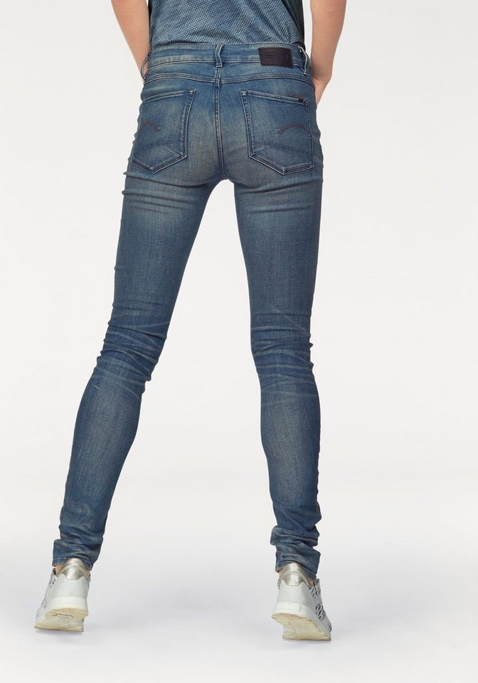 G-Star Stretch-Jeans »3301 contour high skinny« mit hoher Taille in medium-aged