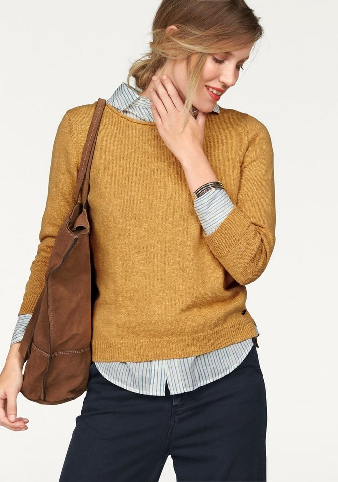Marc O'Polo Strickpullover in gelb