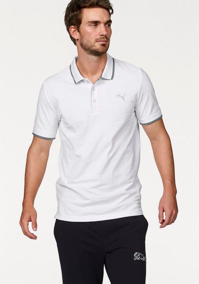 PUMA FUN DRY PIQUE POLO Poloshirt in Weiß