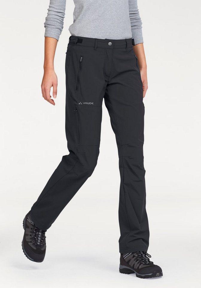Vaude Trekkinghose »FARLEY« mit hohem Lichtschutzfaktor UPF40 in schwarz