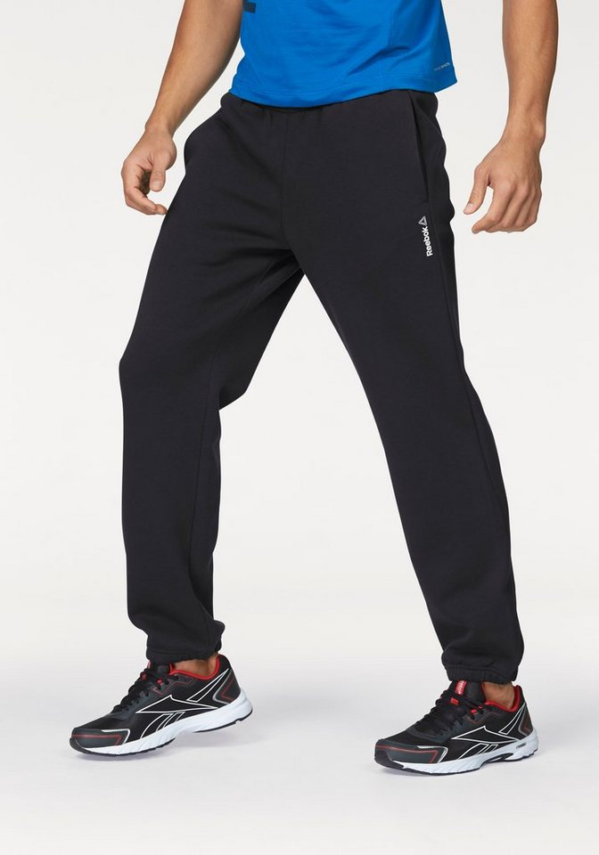 Reebok Jogginghose »ELEMENTS CUFFED FLEECE PANT« in schwarz