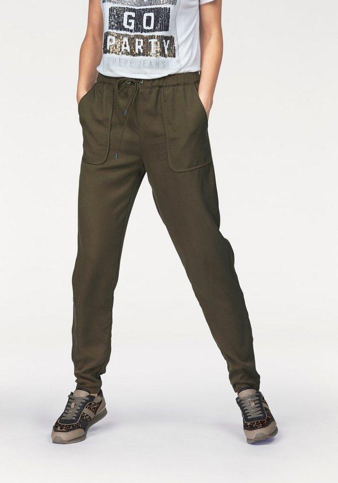Pepe Jeans Schlupfhose »Anja« mit aufgesetzen Taschen in khaki