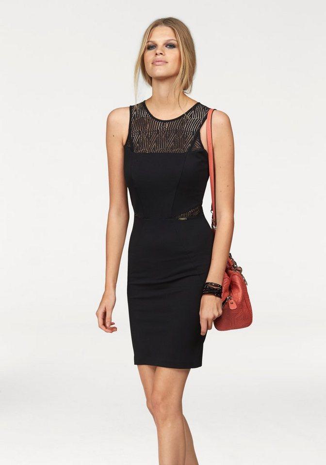 Guess Minikleid »Clelie« mit transparenten Netz-Einsätzen in schwarz