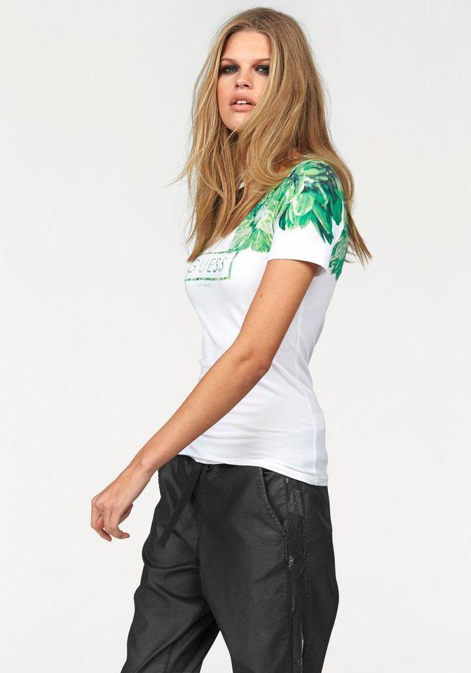 Guess Auf Rechnung : guess t shirt mit tollem flowerprint online kaufen otto ~ Themetempest.com Abrechnung