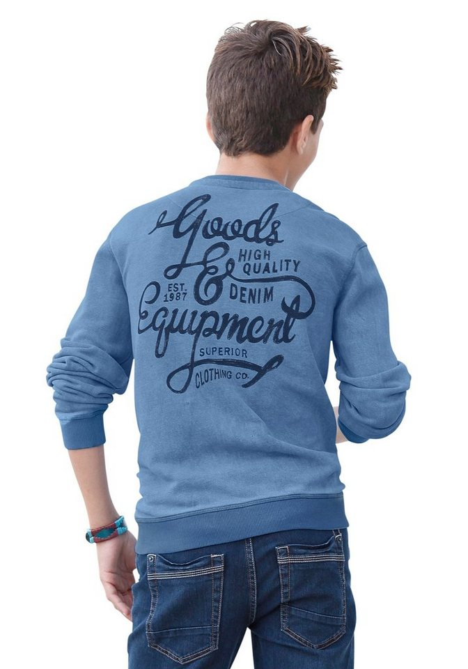 s.Oliver RED LABEL Junior Sweatshirt mit großem Rückendruck in blau