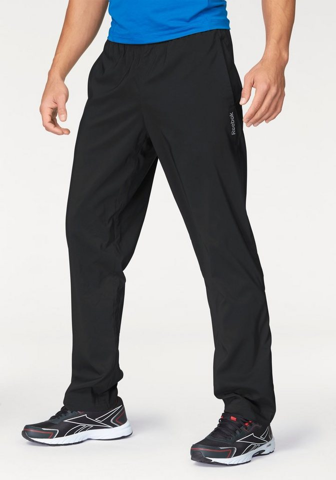Reebok ELEMENTS WOVEN OPEN HEM PANT Sporthose in Schwarz