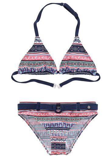 s.Oliver Beachwear Triangel-Bikini im frechen Streifen-Look