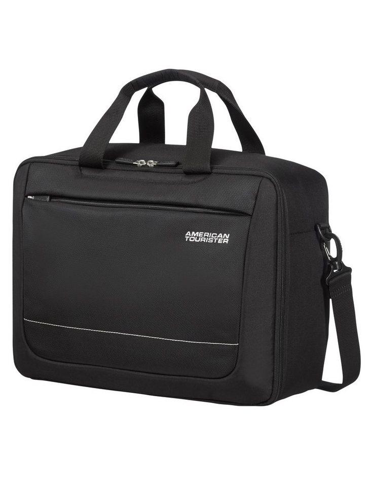 American Tourister Businesstasche zum Rucksack umbaubar, »SPRING HILL 3-WAY BOARDING BAG« in schwarz