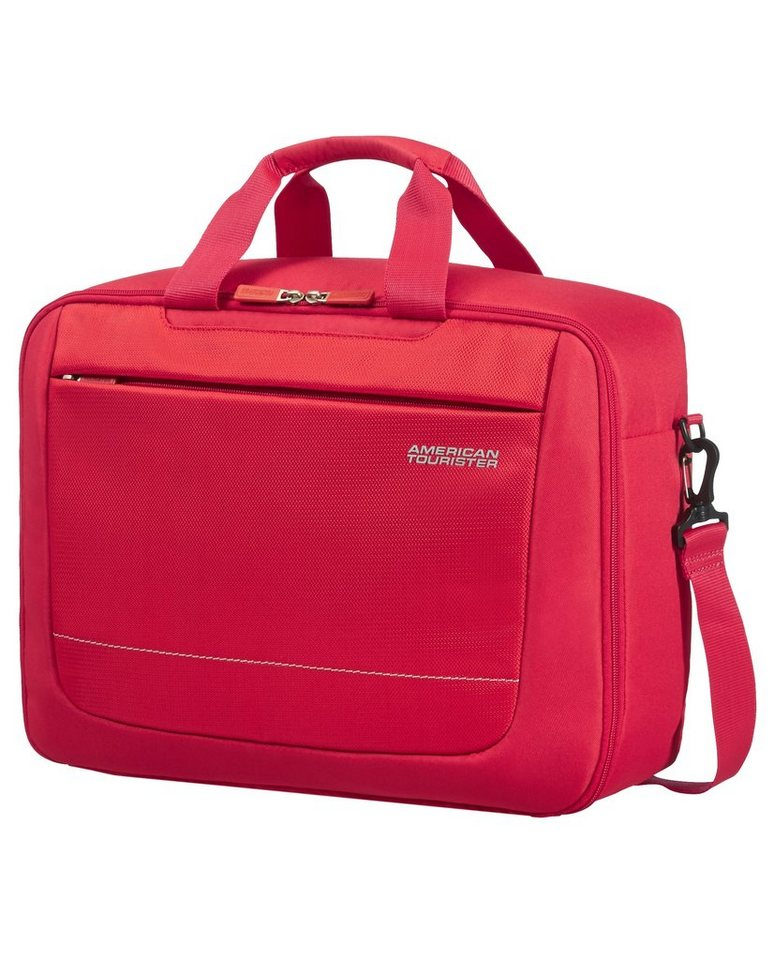 American Tourister Businesstasche zum Rucksack umbaubar, »SPRING HILL 3-WAY BOARDING BAG« in rot