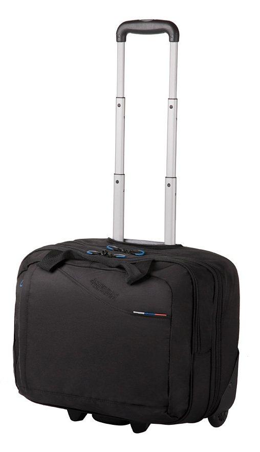 American Tourister Laptoptasche mit 2 Rollen, »BUSINESS III ROLLING TOTE« in schwarz