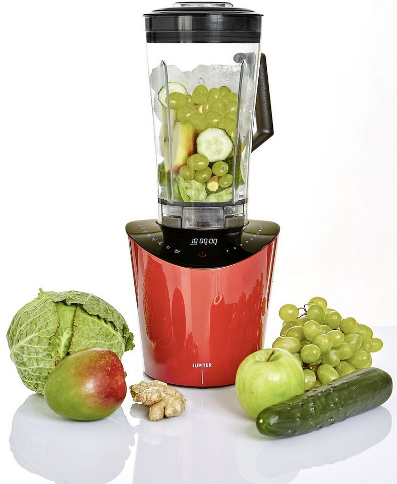 Jupiter High Speed Blender Nutrimix, 1.400 Watt, 10 Stufen, nutri-red in Rot