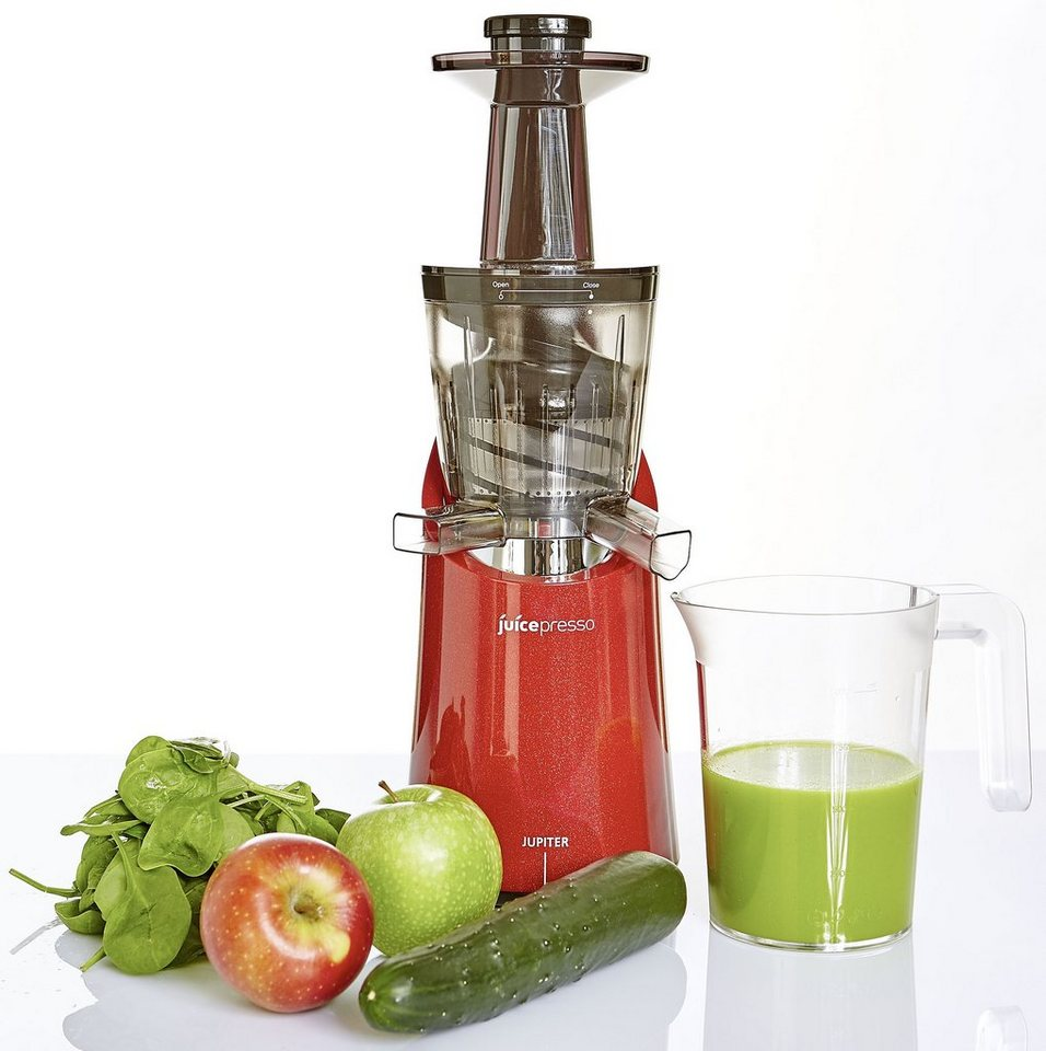 Jupiter Entsafter Juicepresso plus, 150 Watt, nutri-red in Rot