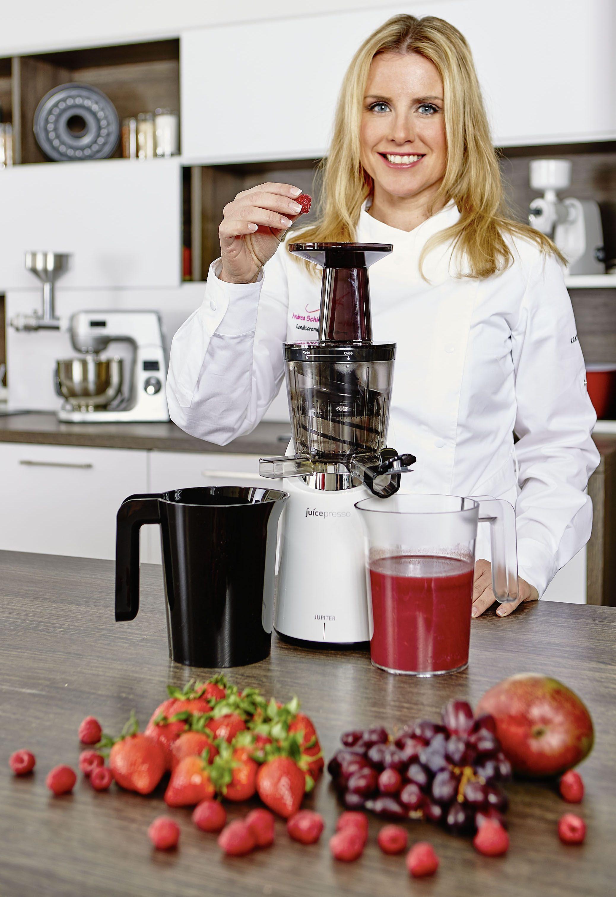 Jupiter Entsafter Juicepresso plus, 150 Watt, nutri-white