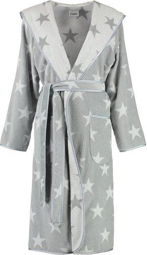 Weißer Damenbademantel Silberfarben »sterne«CawöMit Innenseite 0OPmwyN8nv