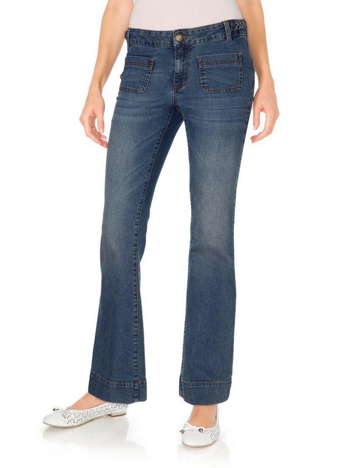 Bootcut-Jeans in blue denim