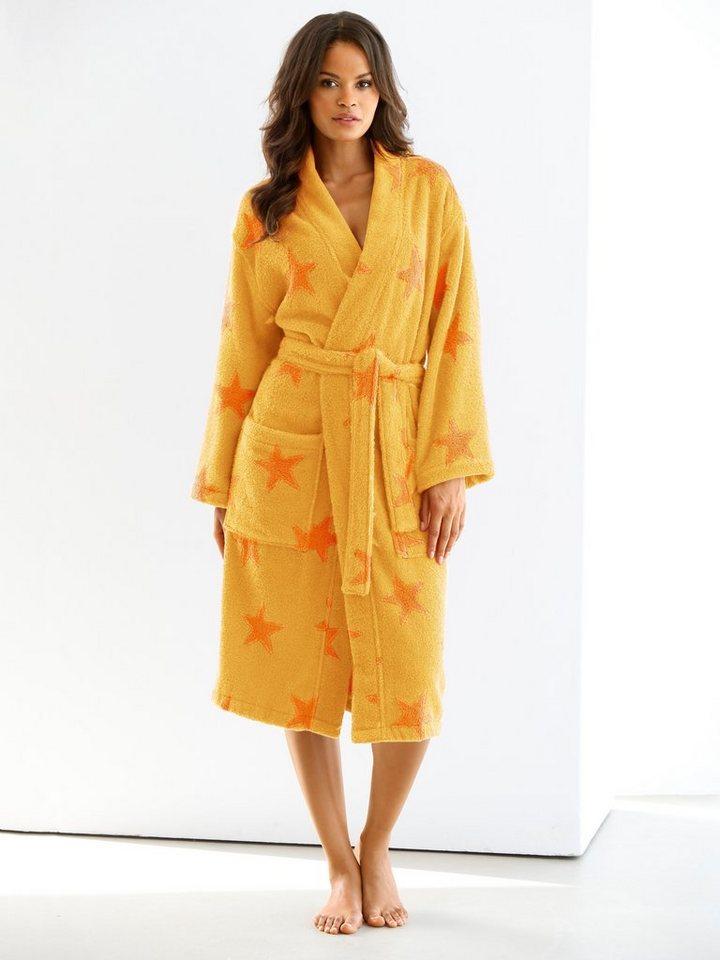 Bademantel in gelb