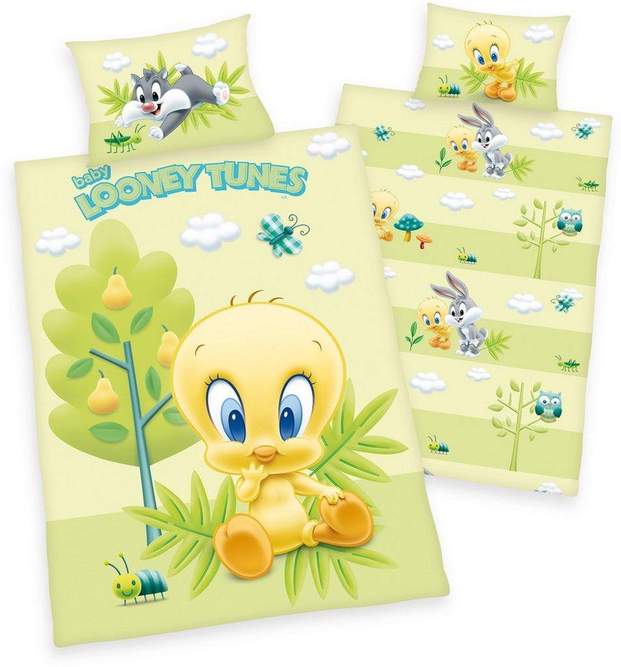 Kinderbettwäsche »Looney Tunes«, LOONEY TUNES, mit Baby Looney Tunes | Kinderzimmer > Textilien für Kinder > Kinderbettwäsche | Grün | LOONEY TUNES