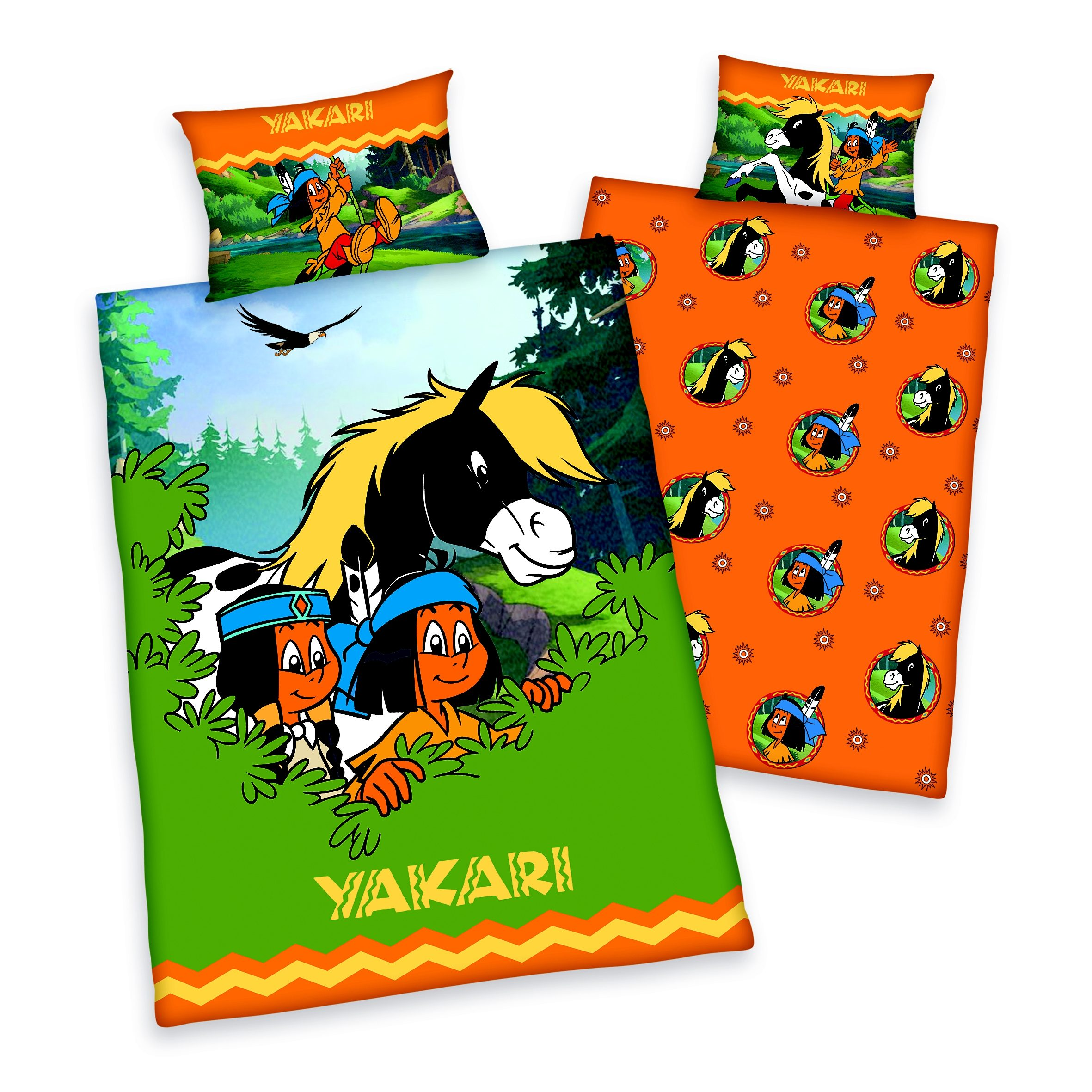 Kinderbettwäsche, Yakari, »Yakaris Abenteuer«, mit Motiven