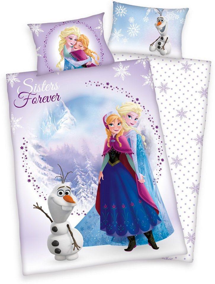 Kinderbettwäsche, Disney, »Frozen Sisters«, Eiskönigin in lila