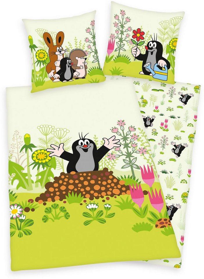 Kinderbettwäsche »Der kleine Maulwurf«, Diverse, und Freunde | Kinderzimmer > Textilien für Kinder > Kinderbettwäsche | Grün | Stoff | Diverse