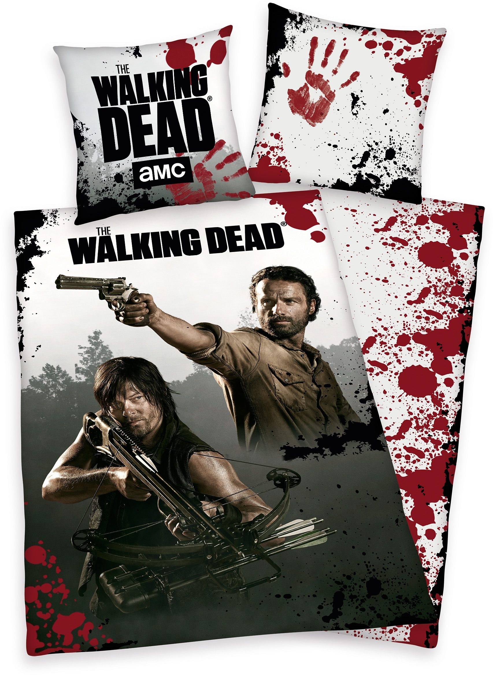 Bettwäsche, »The Walking Dead«, mit Daryl & Rick Portrait