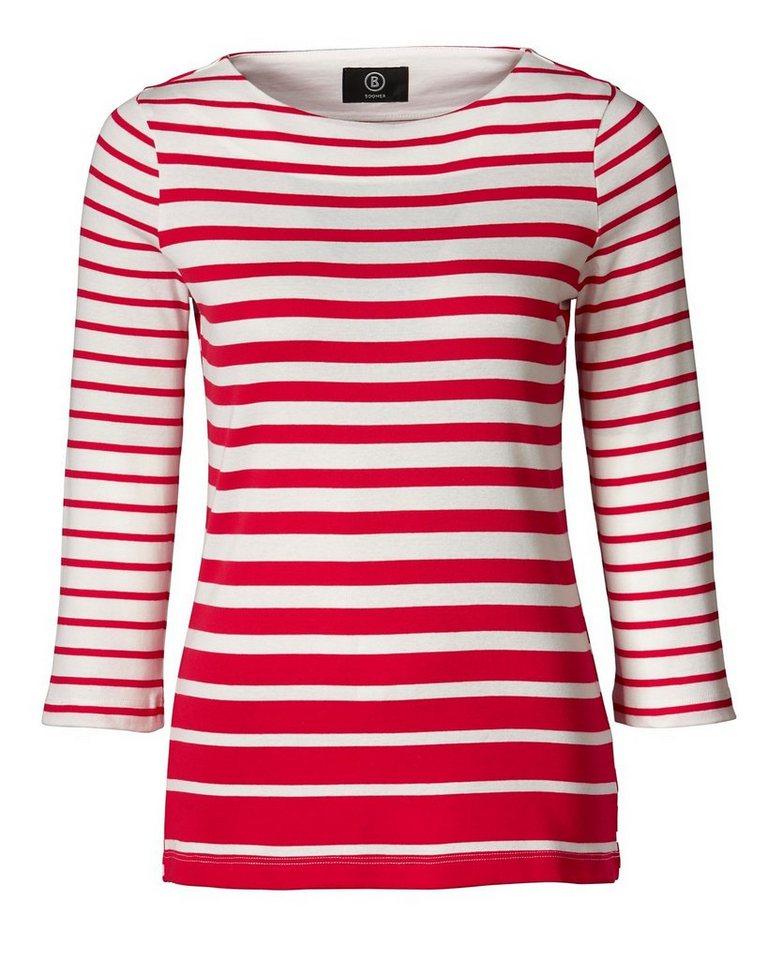 Bogner Streifenshirt Louna in Rot/Weiß