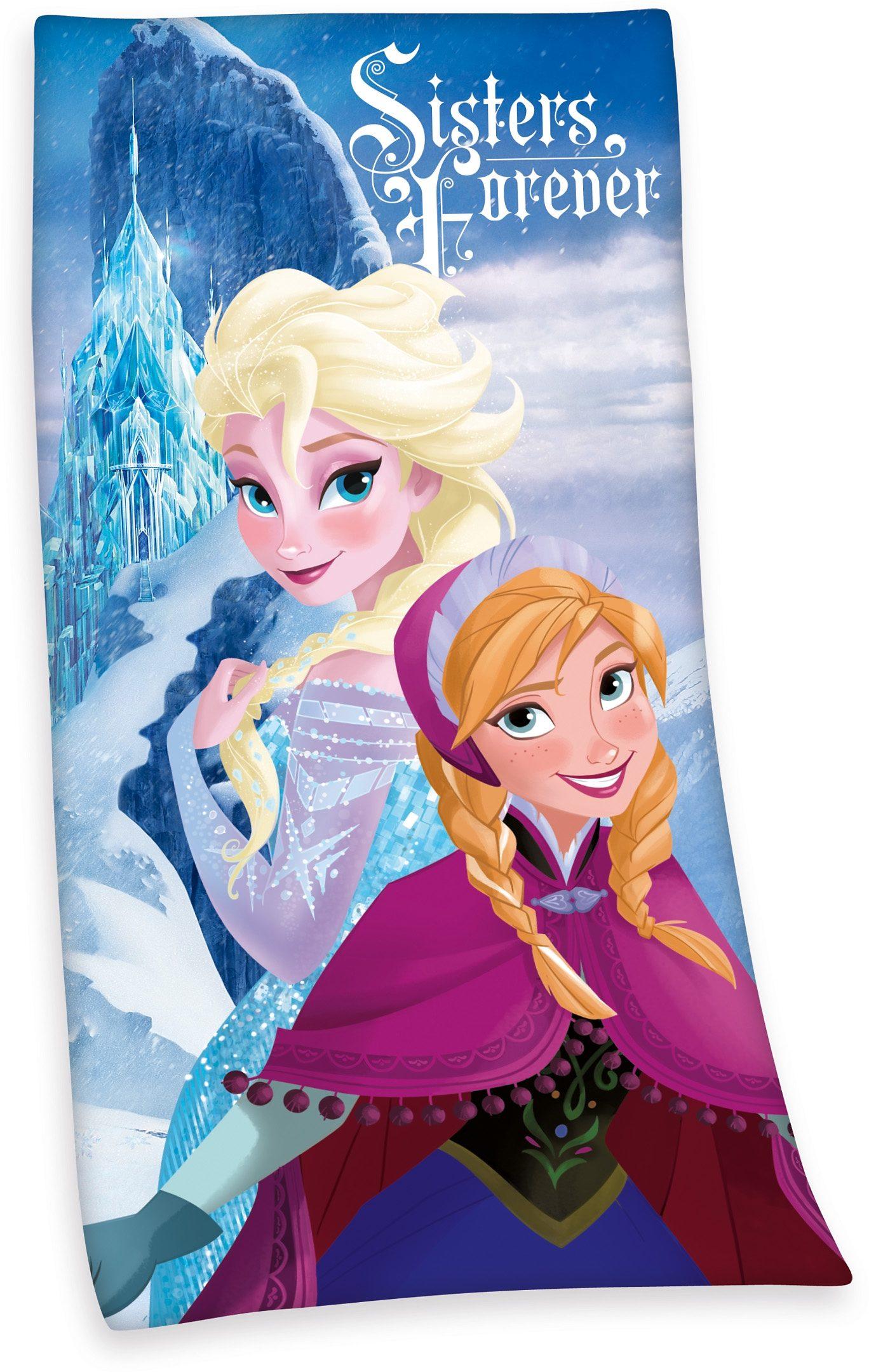 Badetuch, Disney, »Die Eiskönigin«, mit Elsa & Anna