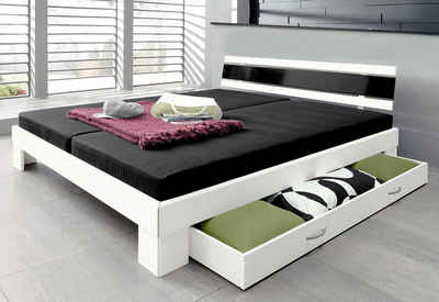 stauraumbett 140 200 schwarz. Black Bedroom Furniture Sets. Home Design Ideas