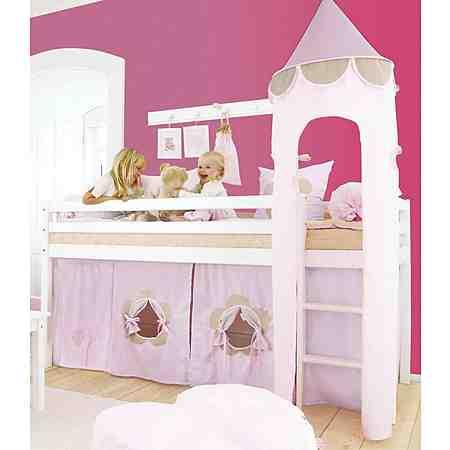 Hoppekids Halbhohes Bett »Fairytale Flower«