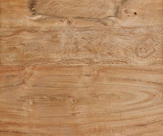 DELIFE Wohnzimmertisch Live-Edge Akazie 130x60 cm Baumkante Baumtisch