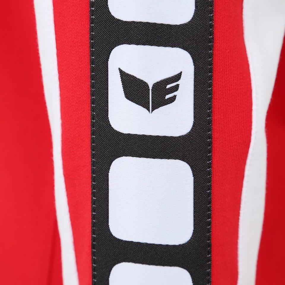 ERIMA 5-CUBES Sweatshirt Damen in rot/weiß/schwarz
