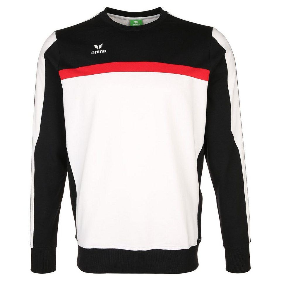 ERIMA 5-CUBES Sweatshirt Herren in weiß/schwarz/rot