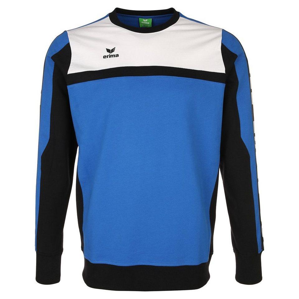 ERIMA 5-CUBES Sweatshirt Kinder in blau/schwarz/weiß