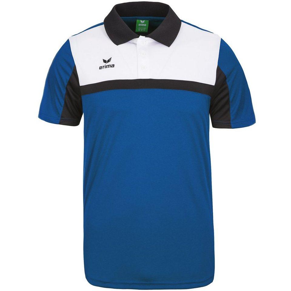 ERIMA 5-CUBES Poloshirt Herren in blau/schwarz/weiß