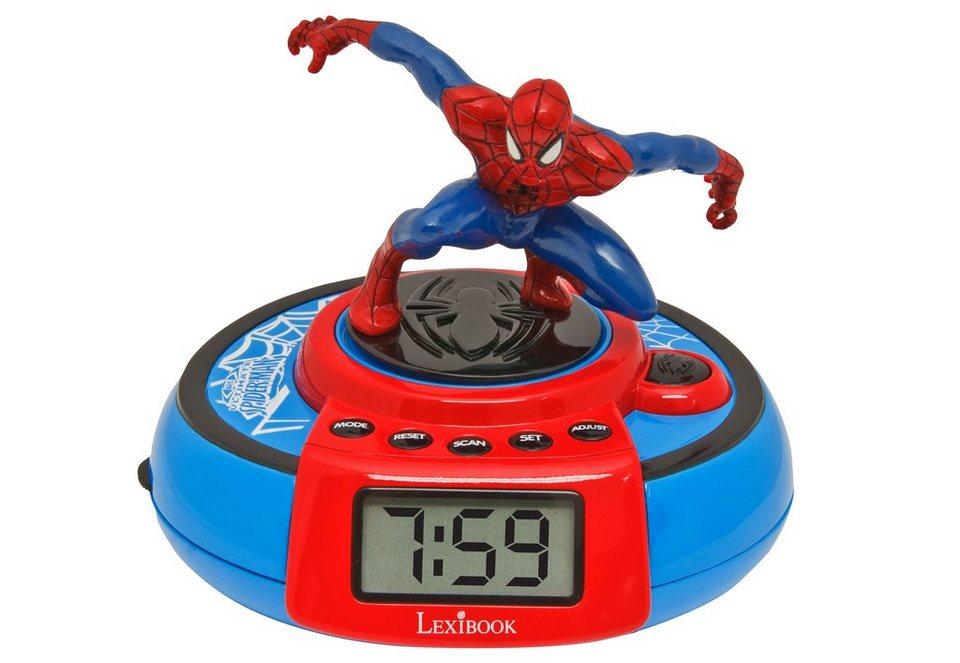 Lexibook Interaktiver Wecker, »Spiderman Radiowecker - flying Alarm«
