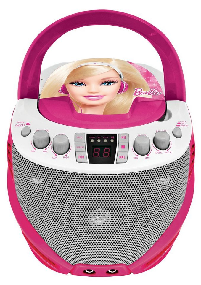 Lexibook, Karaoke Player, »Barbie CD- & Karaoke Player« in pink