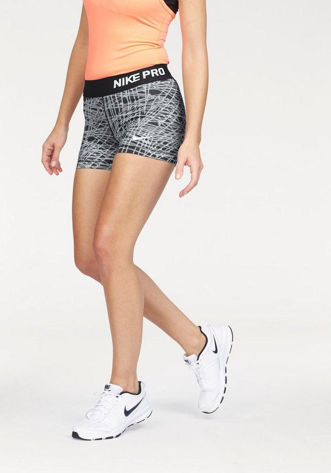 "Nike PRO DRI-FIT 3"" SHORT TRACER Shorts in Schwarz-Grau"