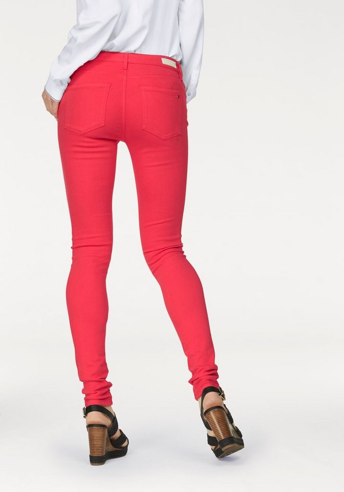 Tommy Hilfiger Stretch-Hose »Como« coloured denim in red-denim