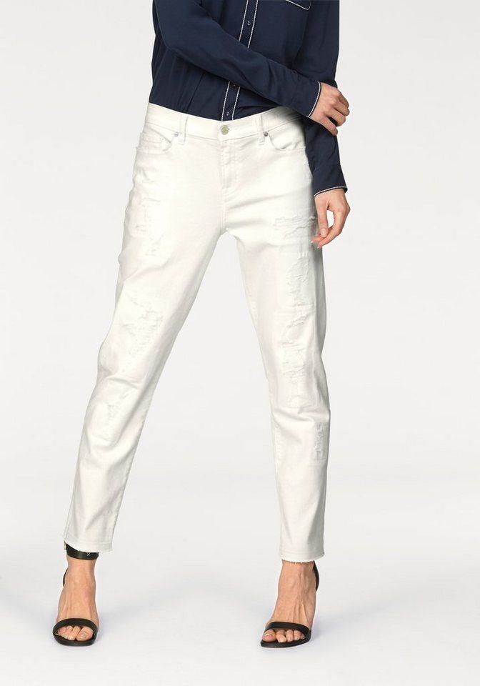 Tommy Hilfiger Boyfriend-Jeans »Oslo« mit Destroy-Effekten in white-denim
