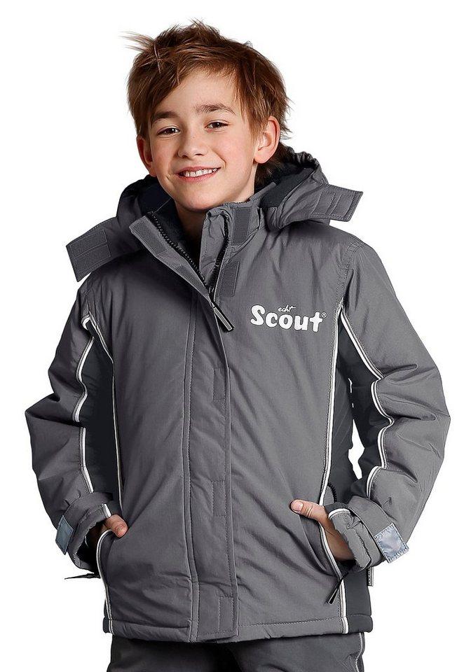 Scout Schneejacke mit reflektierenden Details in grau-schwarz